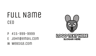 Angry Grey Mouse Business Card