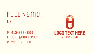 Red Medical Drugstore Business Card