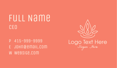 Natural Essence Oil Business Card