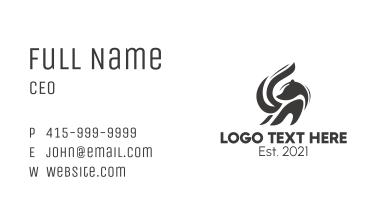 Black Skunk Animal  Business Card