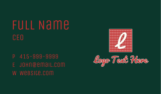 Picnic Blanket Fabric Letter Business Card