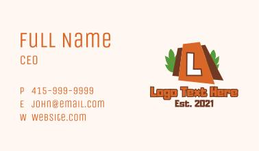 Volcano  Cartoon Letter Business Card