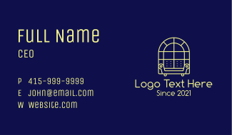 Window Sofa Furniture Business Card