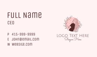 Lady Fashion Hairstylist Business Card