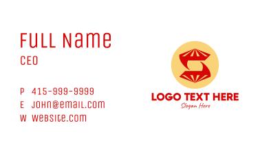 Diamond Letter S  Business Card
