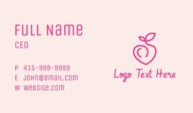 Pink Peach Fruit  Business Card
