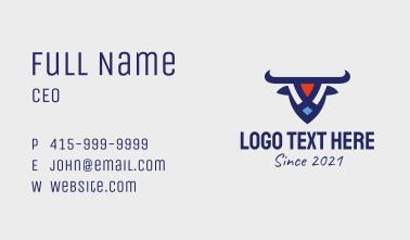 Patriot Bull  Business Card