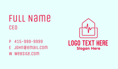 Home Cardiology Emergency Business Card