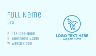 Digital Tech Hummingbird Business Card