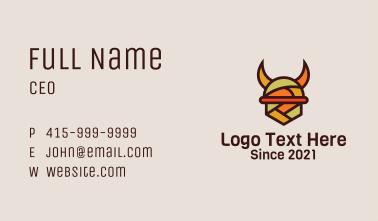 Multicolor Viking Helmet  Business Card