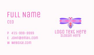 Pinkish Dragonfly Business Card