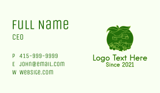 Natural Vegetable Patch Farm  Business Card