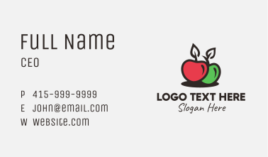 Red Green Apple Business Card