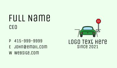 Automotive Car Stop Sign Business Card
