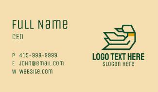 Minimalist Geometric Goose Business Card