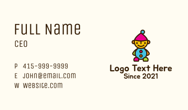 Colorful Dwarf Toy Business Card