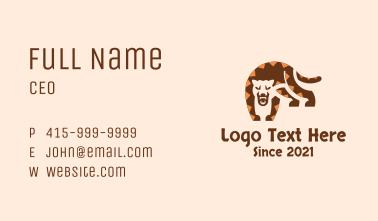 Wild Jaguar Jungle Business Card
