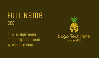 Pineapple Spartan Helmet  Business Card