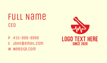 Heart Rate Medical Pharmacy Business Card