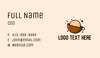 Coffee Shop Planet Business Card