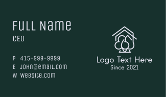 Casino House Cards Business Card