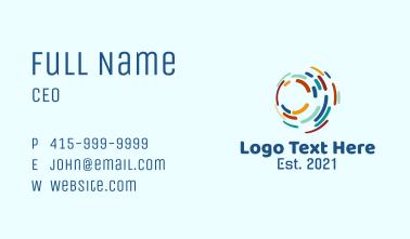 Orbit Lines Telecommunications Business Card