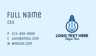 Blue Anchor Sailing Business Card