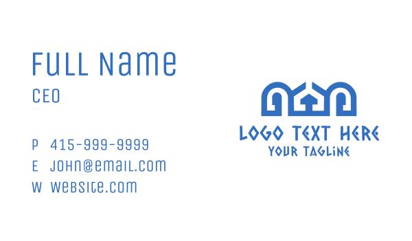 Blue Greek Palace Business Card