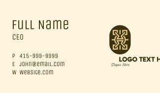 Tribal Shield Business Card