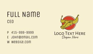 Minimalist Chinese Ox Business Card