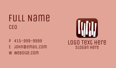 Gradient Piano Music Instrument Emblem Business Card