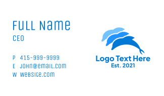 Blue Dolphin Pod Business Card