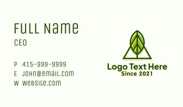 Nature Leaf Camp Business Card
