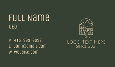 White Monoline Falls Campground Business Card