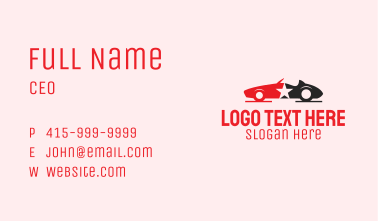 Star Sports Car Business Card