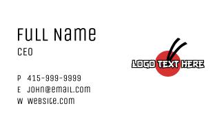 Japanese Restaurant Wordmark Business Card