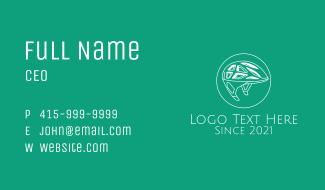 White Bike Helmet Business Card