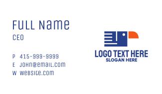 Geometric Bird Document Business Card