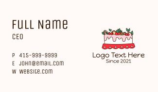 Fruity Cake Decoration Business Card