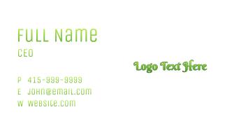 Gradient Green Wordmark Business Card