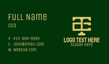 Corporate T & C Monogram Business Card