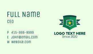 Military General Badge Business Card