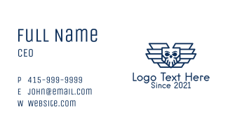 Blue Skull Air Force Business Card