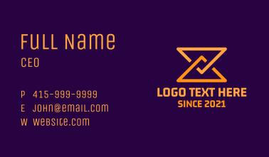 Triangle Hourglass Business Card