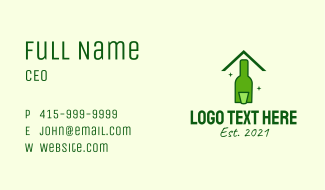 Green Beer House Business Card