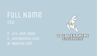 Easter Bunny Running Business Card