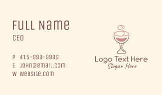 Letter S Pink Wine  Business Card