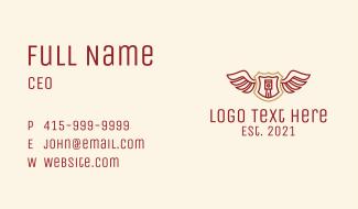 Piston Automotive Badge Business Card