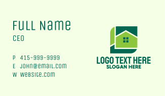 Green Home Property Business Card