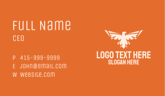 Spread Wings Eagle Business Card